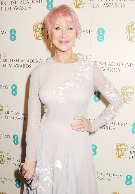 Helen Mirren at the BAFTAS 2013