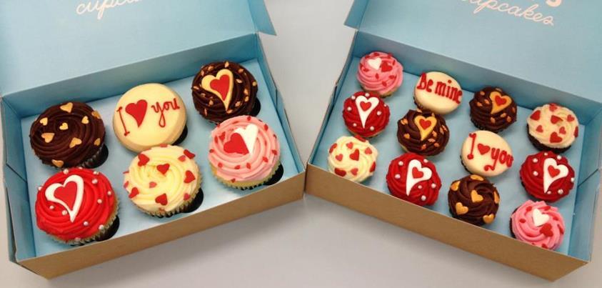 lolas cupcakes valentines day - Cupcake Valentine Box