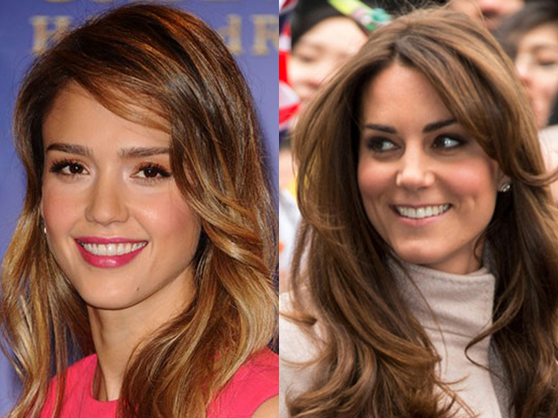 Jessica Alba and Kate Middleton