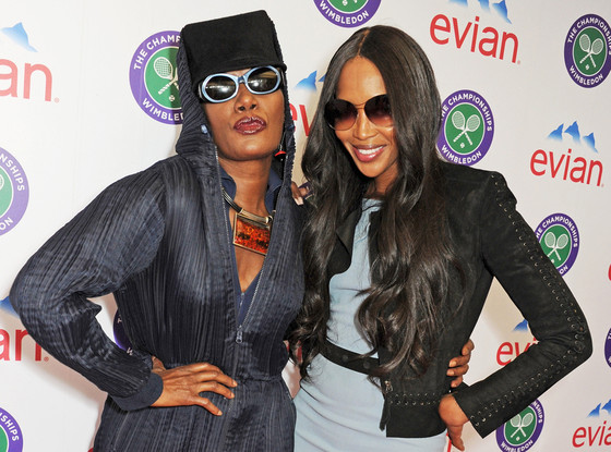 Naomi Campbell and Grace Jones
