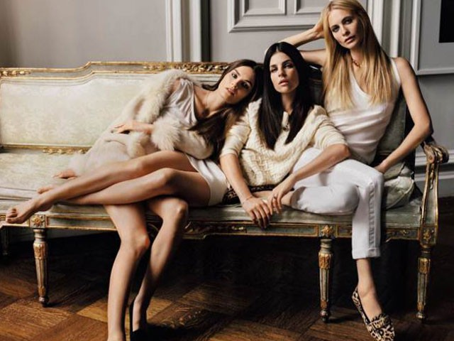 Julia Restoin Roitfeld, Poppy Delevingne, and Anouck Lepere for JOIE