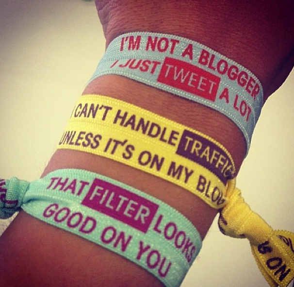 <b>Blogger Twistbands...</b>