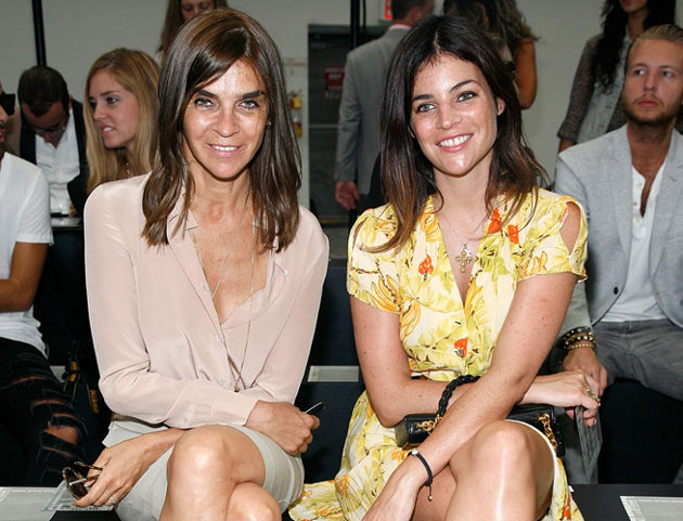 Julia and her mother Carine Roitfeld