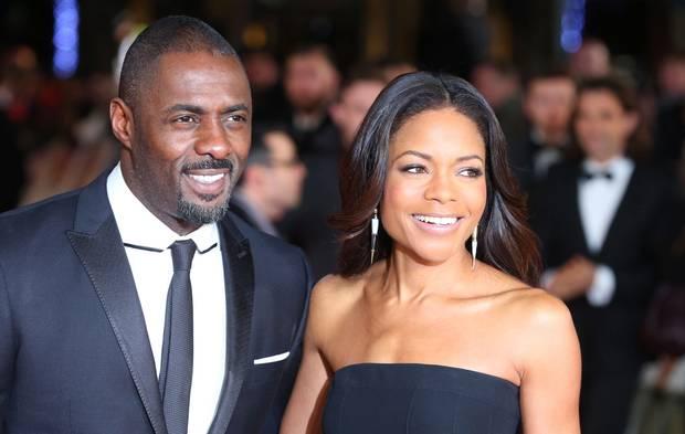 Idris Elba and Naomi Harris at the premiere last night.