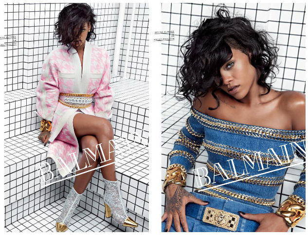Rihanna for Balmain