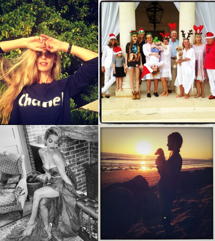 Celebrity Christmas Instagrams 2013