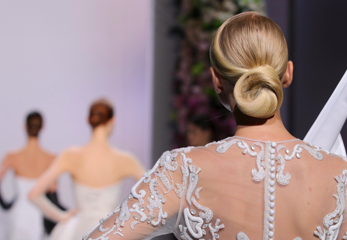 Ballet Bun by Nevilles for Ralph & Russo Haute Couture SS14