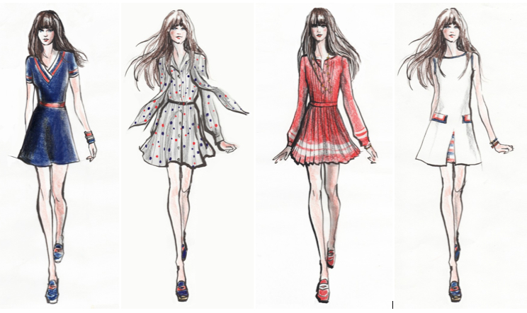 Some of the 'To Tommy, From Zooey' capsule collection designs