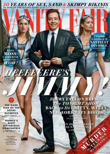 Alessandra Ambrosio, Jimmy Fallon and Doutzen Kroes for Vanity Fair.