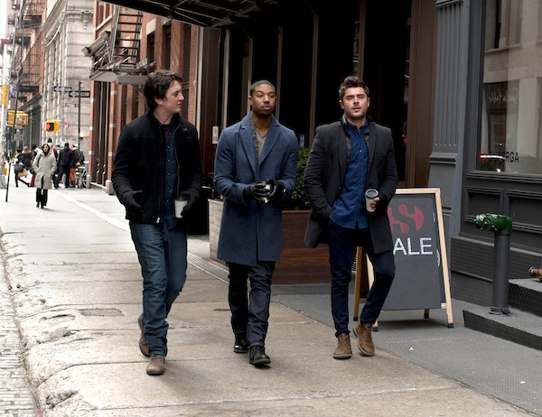 "Miles Teller with Michael B. Jordan and Zac Efron in ""That Awkward Moment."""