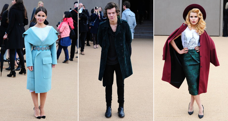 Burberry Prorsum AW14 - Hayley Atwell, Harry Styles, Paloma Faith.