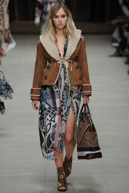 Burberry Prorsum AW14 - Suki Waterhouse