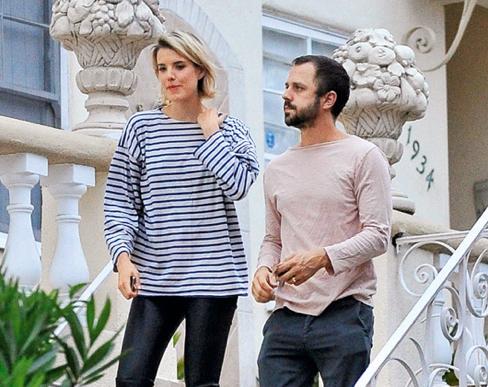 Agyness Deyn with husband Giovanni Ribisi