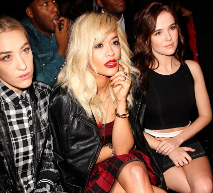 Rita Ora front row at DKNY AW14