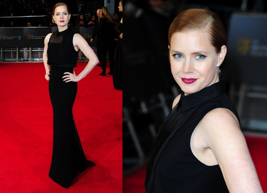 Amy Adams at the BAFTAs 2014.