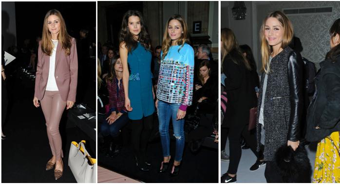 Olivia Palermo London Fashion Week AW14 - Anya Hindmarch, Matthew Williamson, Berardi.