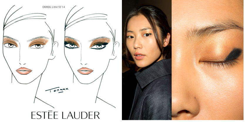 Derek Lam SS14 beauty look by Tom Pecheux for Estee Lauder.