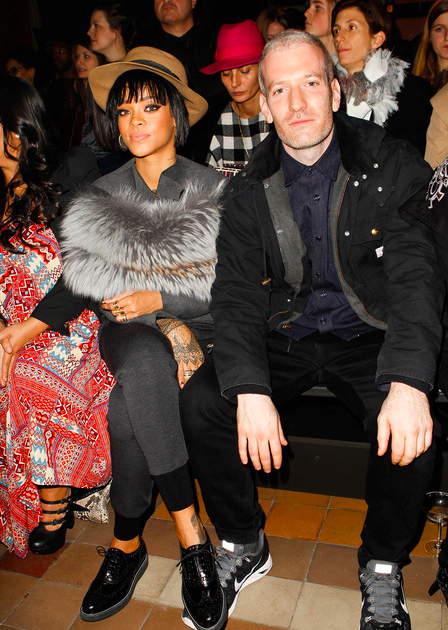 Rihanna and Mel Ottenberg front row at Lanvin AW14.