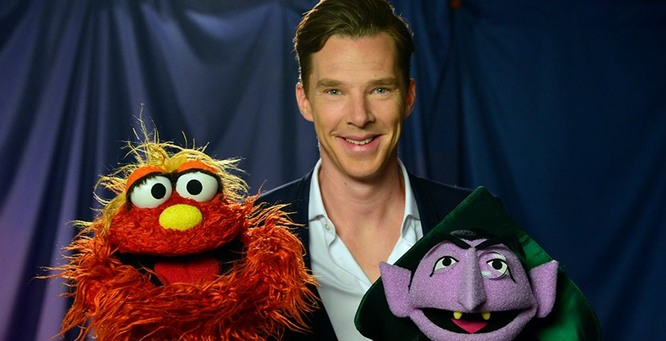 Benedict Cumberbatch appears on Sesame Street