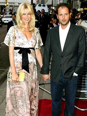 Claudia Schiffer with husband Michael Vaughn