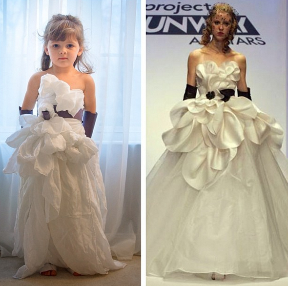 When her mom told her about Project Runway, Mayhem insisted on making some of the show's dresses.