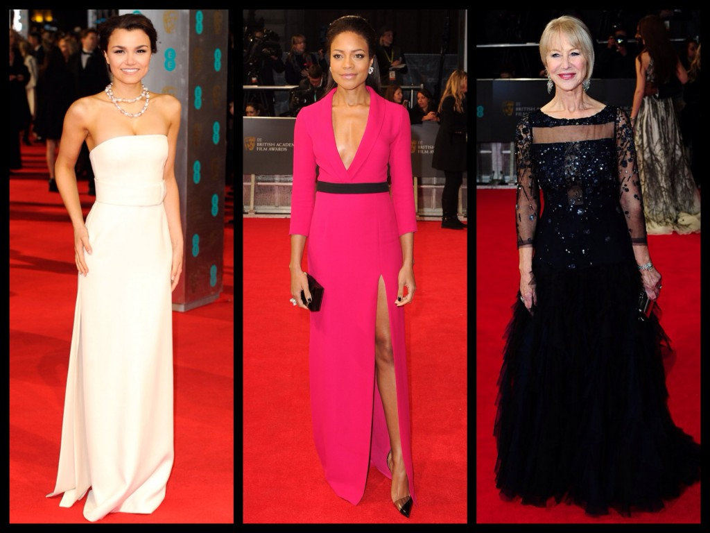 (From left) Samantha Barks, Naomie Harris, and Dame Helen Mirren