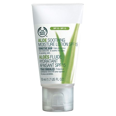 The Body Shop Aloe Soothing Moisture Lotion SPF 15.