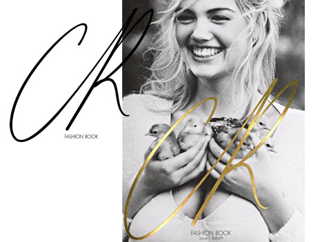 Kate Upton on the cover of Carine Roitfeld's Fashion Book.