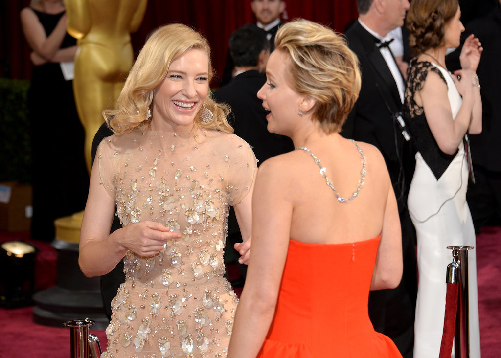 Oscars 2014: Cate Blanchett and Jennifer Lawrence on the red carpet.