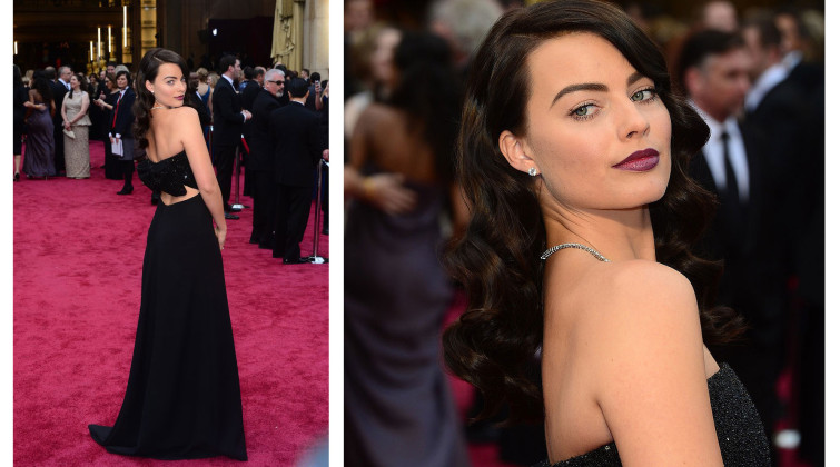 Margot Robbie at the Oscars 2014.