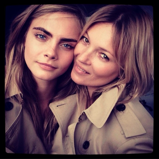 Cara Delevingne and Kate Moss shoot a brand new Burberry fragrance campaign together.