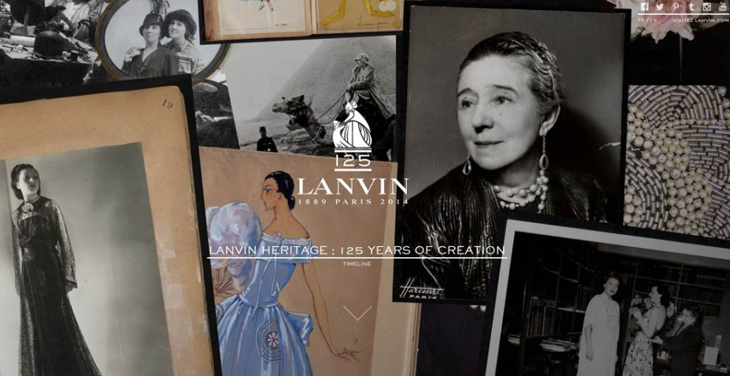 Lanvin's 125th anniversary website.