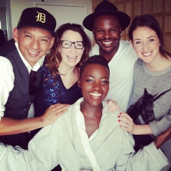 Oscars 2014: Lupita Nyong'o and her beauty and style team.