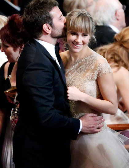 Oscars 2014: Bradley Cooper and Suki Waterhouse.