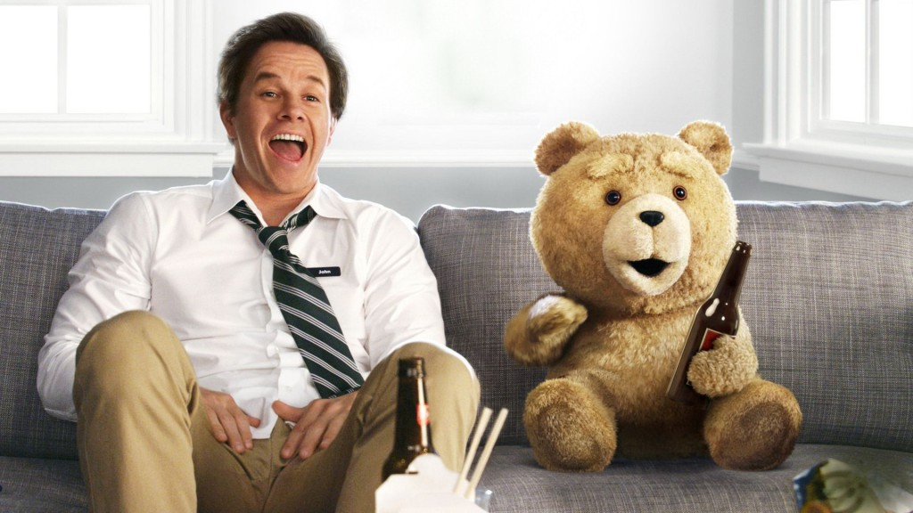 Mark Wahlberg and his fuzzy companion (voiced by Seth MacFarlane) in 2012's Ted.