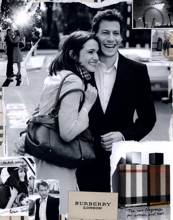 Ioan Gruffudd and Rachel Weisz for Burberry London.