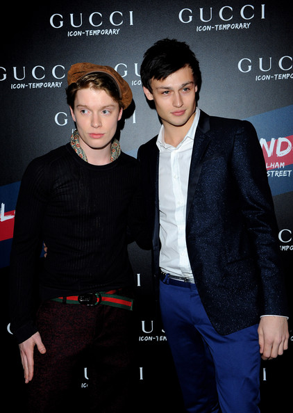 Photo of Freddie Fox & his friend actor  Douglas Booth -
