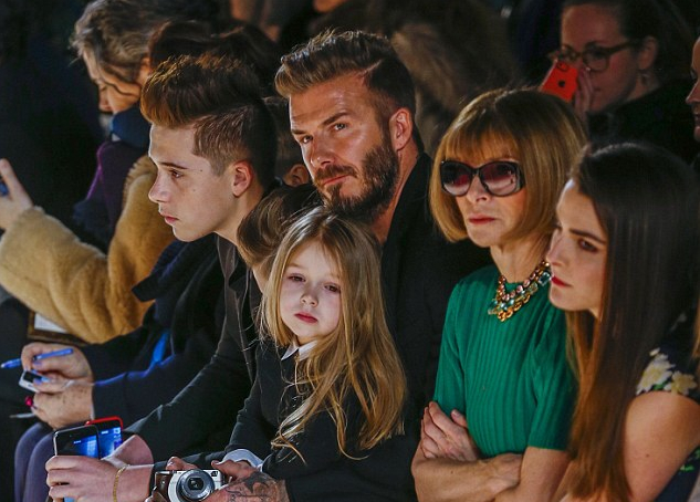 <b>THE BECKHAMS TAKE NE...</b>