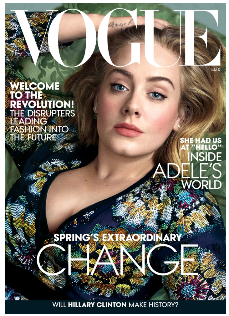 <b>ADELE ON VOGUE MARCH...</b>
