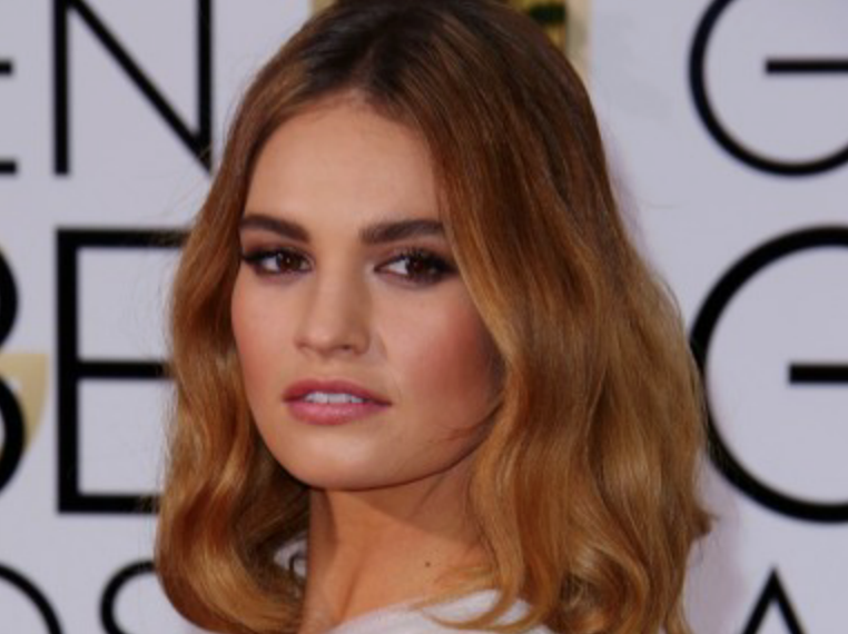 <b>LILY JAMES IS NEW FA...</b>
