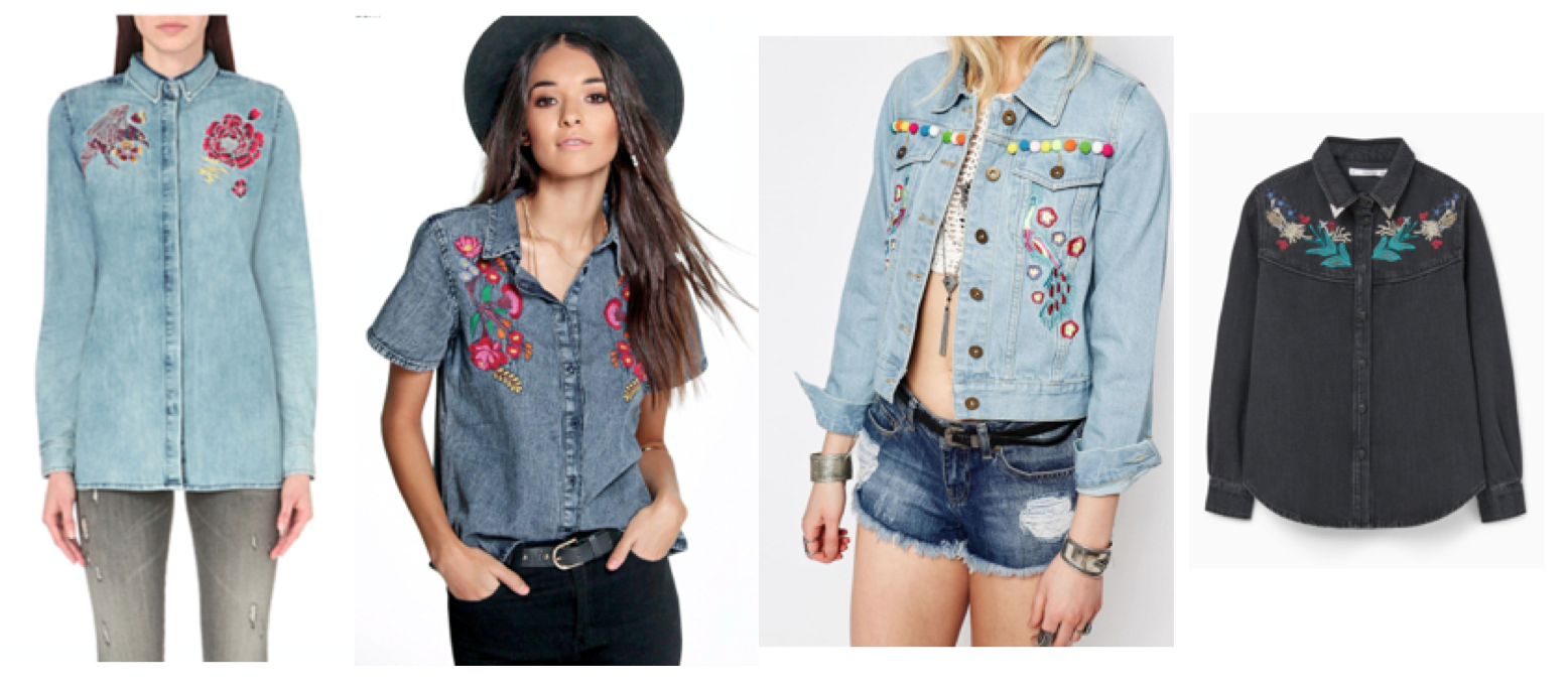 b4112a0a1dd Embroidered Jean Shirts