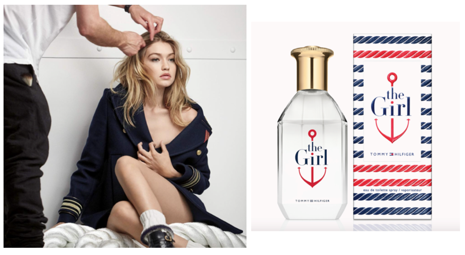 27f842a8cdcfcb Screen Shot 2016-07-22 at 13.14.03. Gigi behind the scenes with Tommy  Hilfiger's new fragrance, The Girl.
