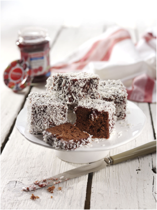Raspberry and Chocolate Lamingtons