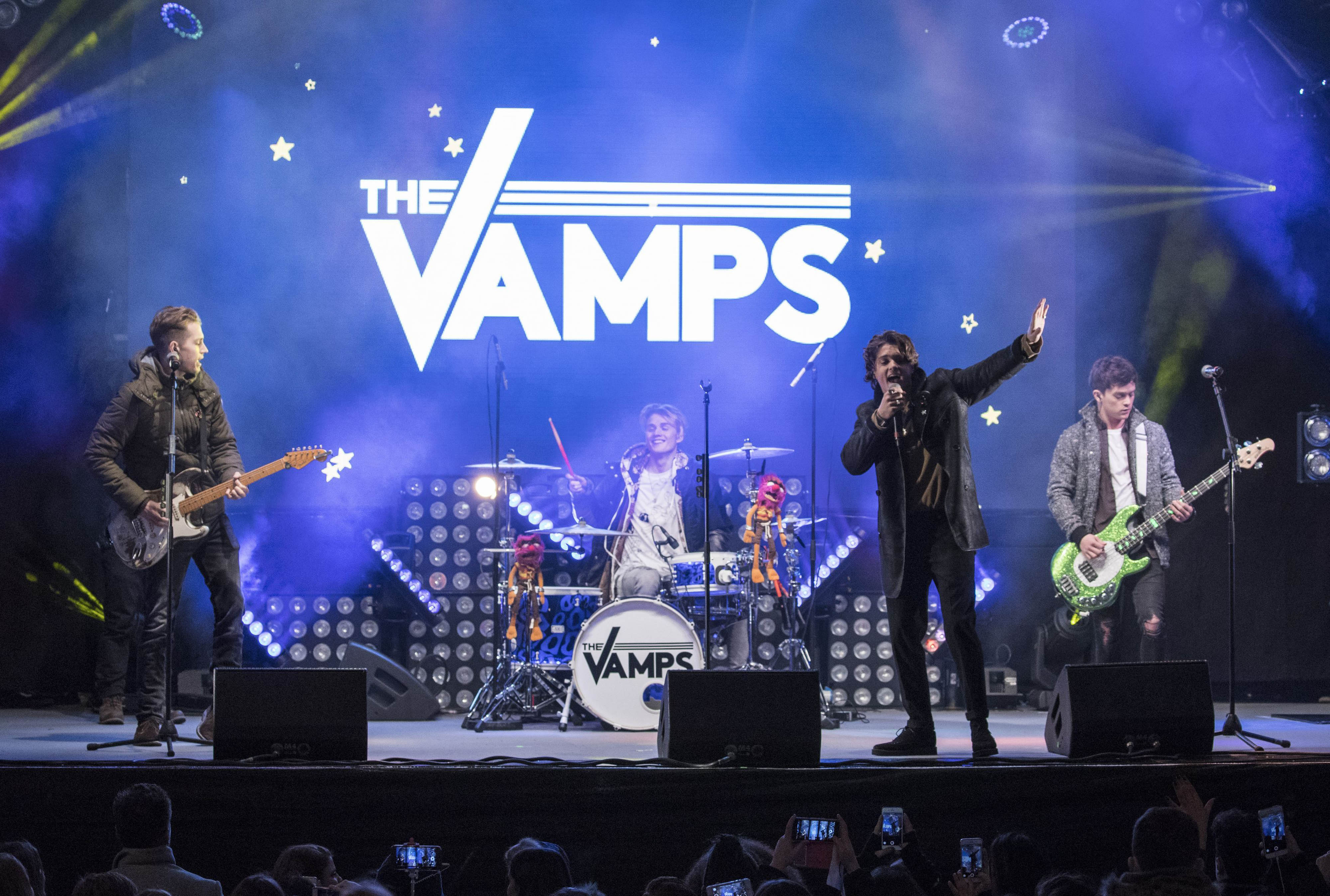 The Vamps performing at Oxford Street Christmas Lights ceremony