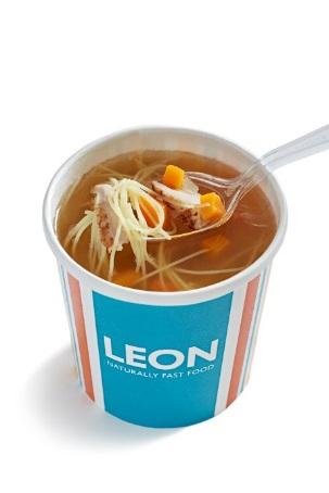 LEON gluten free chicken noodle soup