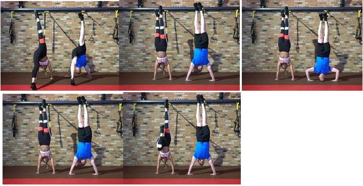 TRX handstand and leg dip