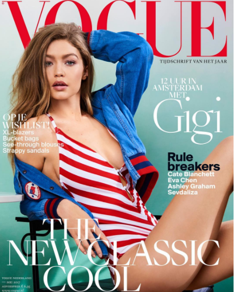 <b>GIGI ON MAY VOGUE NE...</b>