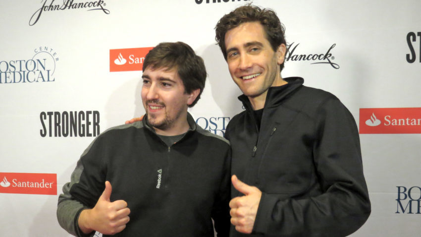 Jake Gyllenhaal with the real Jeff Bauman.