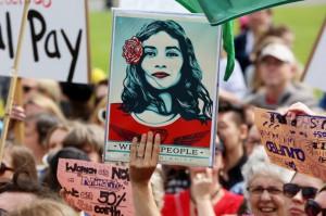 Women's March, Wellington, NZ. Picture: Andy McArthur