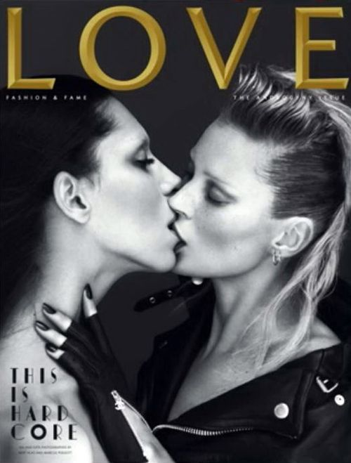Kate Moss and Lea T for Love Magazine 2011
